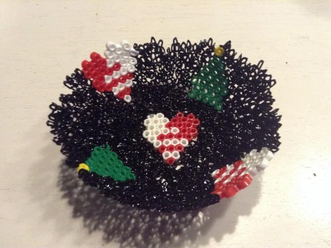 Perleskål Julemotiver