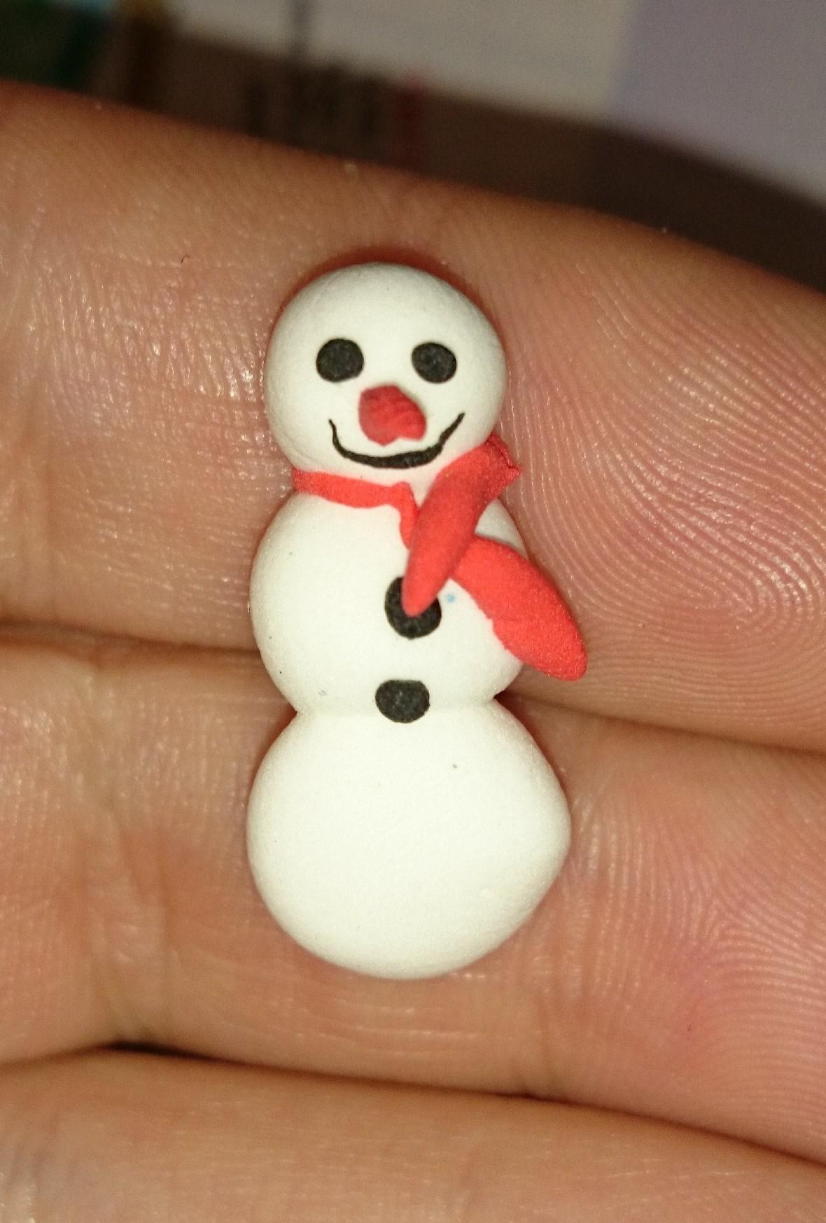 Julekugle Hjerte Snemand