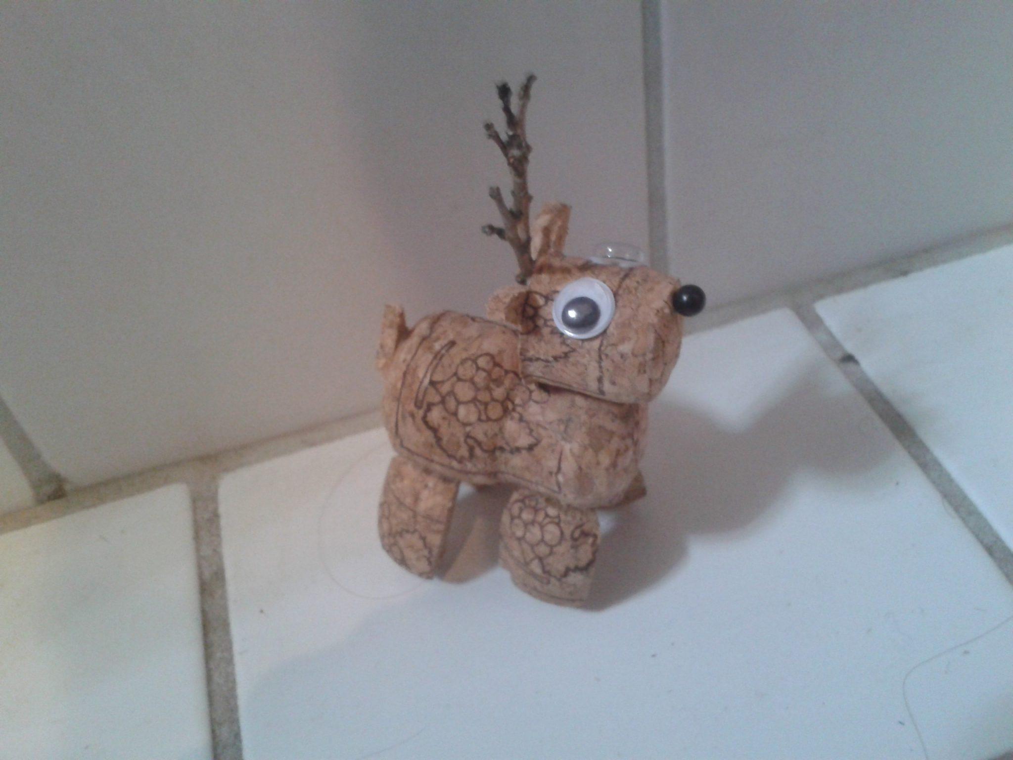 kreativt rensdyr korkpropper